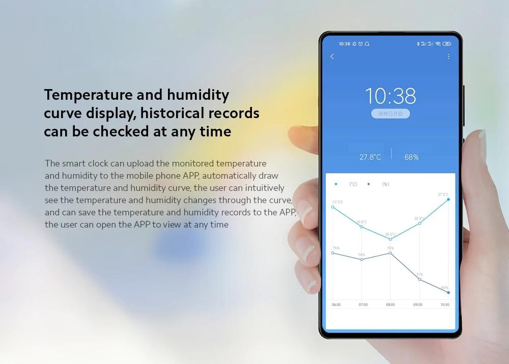 Original MiaoMiaoCe E-Link INK LCD Screen Digital clock Moisture Meter BT4.0 High-Precision Thermometer Temperature Humidity Sensor (1)