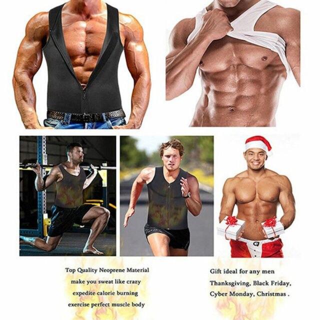 Men's Compression Slimming Best Shapewear T Shirt Vest for Waist Chest Trainer Fat Burner Shapewear Neoprene Vest Sweat Shirt 4