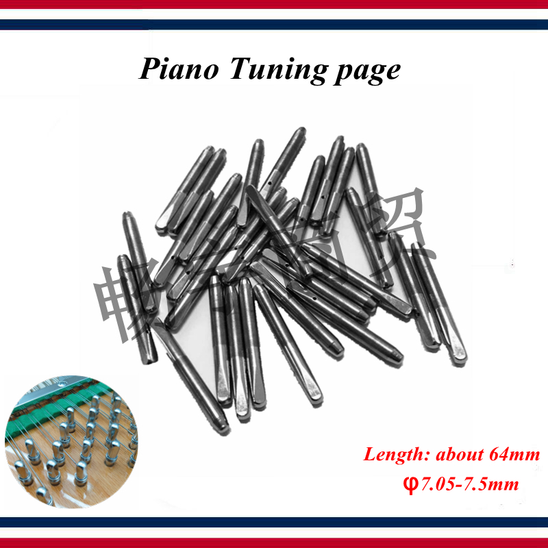 Piano Tuning Tool Accessories 30 Pcs Piano Tuning Page Piano Parts String Axis Needle String Pin Type 7.1/7.2/7.3/7.4/7.5/7.05