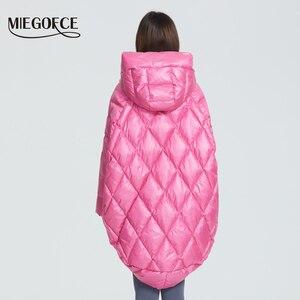 Image 4 - MIEGOFCE 2020 Новый Дизайн Роскошный Женский Парка Яркие Расцветки Повседневная Свободная Пальто Теплая Негабаритная Женская Куртка утепленные дутые куртки стойкий воротник с капюшоном