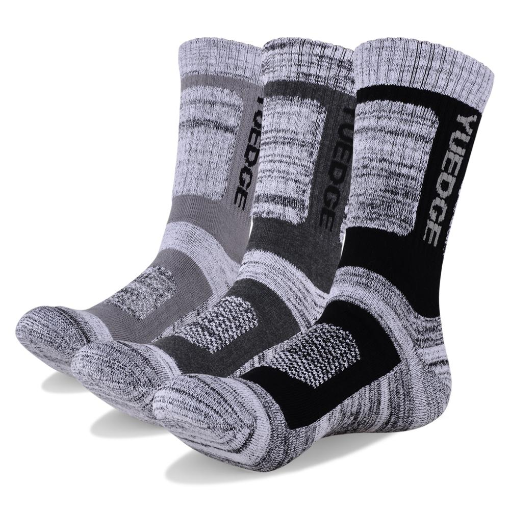 3 Pairs Winter Men's Wicking Thicken Winter Warm Cotton Socks Sports Socks Trekking Hiking Socks