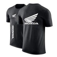 2020 novoverão honda logotipo do carro personalizado em torno dopescoço punk confortávelimpressão manga curta casual top camisol