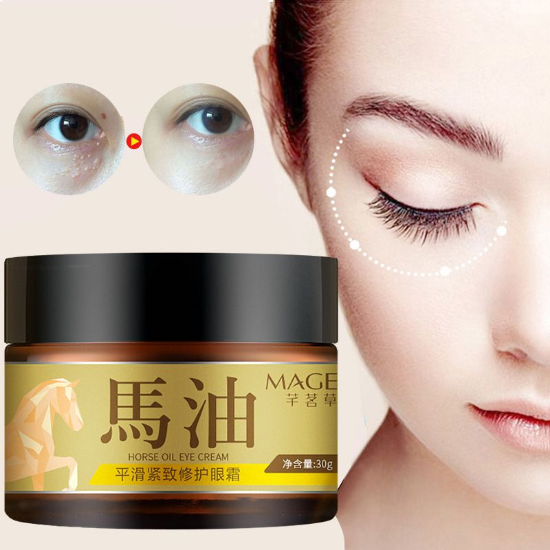 30g Japanese Horse Oil Eye Cream Moisturizing Anti-puffiness Remove Dark Circles Eye Care Cream Health Care Skin Care*