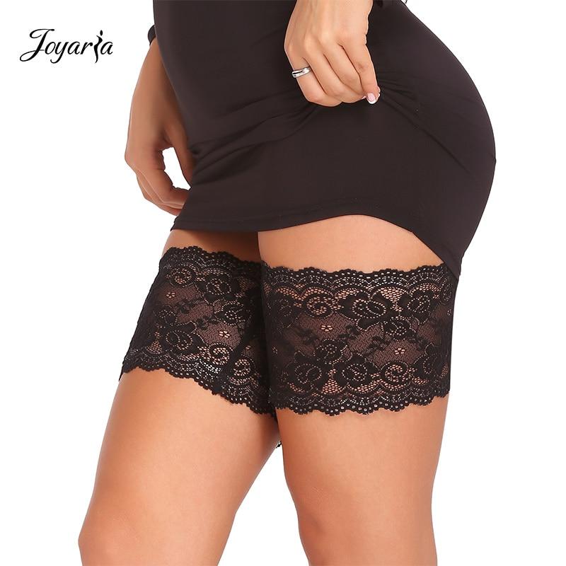 Joyaria Women Sexy Lace Garters Female Leg Garters Anti Chafing Thigh Bands