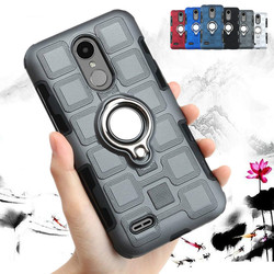 Ring Armor Case for LG K10 K4 K8 2017 2018 K11 K12 Plus Case For LG Q6 Q8 Q7 Aipha Stylo 5 Stylus 3 Silicone Hard Back Cover
