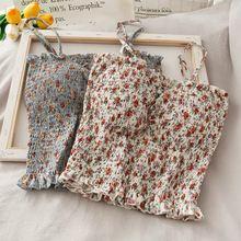 Милая женская цветочная кофта в стиле девушки Летняя короткая