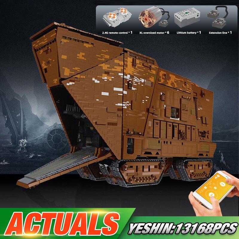 Yeshin Star Toys Wars Compatible avec MOC-13289 Cavegod UCS Kits d'assemblage de chenilles de sable modèle blocs de construction briques cadeaux pour enfants