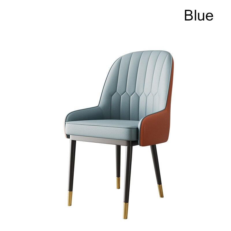 Скандинавский Инс металлический пластиковый стул ресторанный стул ресторан офисное собрание компьютерное кресло семейная спальня обучающее кресло - Цвет: Blue