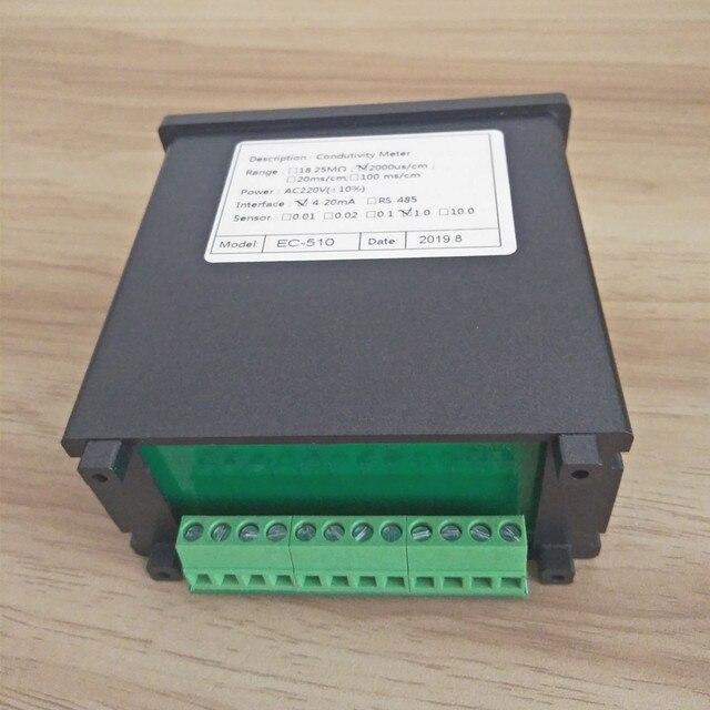 Contrôleur EC 4-20mA relais testeur de conductivité industrielle moniteur de qualité de leau analyseur en ligne 0-20/200/2000/4000us/cm