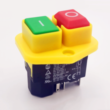 1pc kjd17b interruptor de botão 220v-240v 16a 5 pinos interruptor de ferramenta elétrica