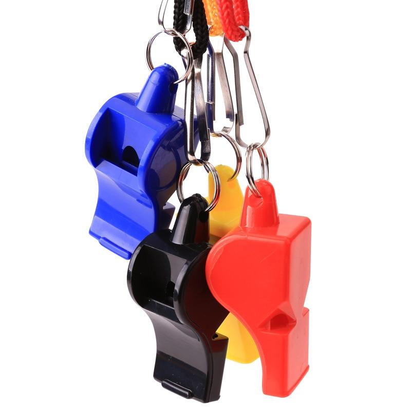 1Pcs Whistle Plastic Whistle HOT Soccer Football Basketball Hockey Baseball Sports Referee Whistle Survival Outdoor