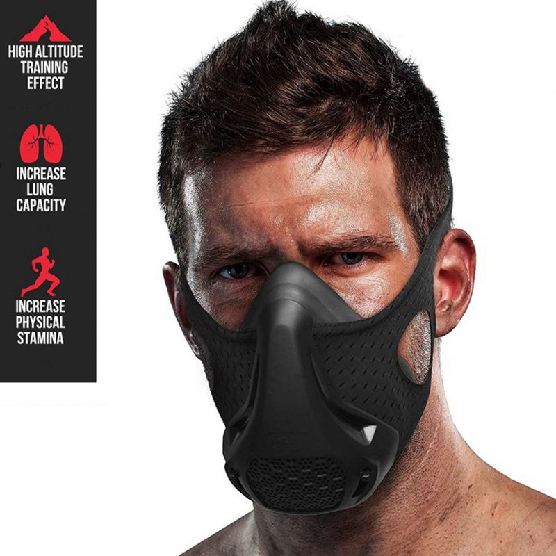 24 Breathing Levels Workout Hypoxic Mask Fitness Sports Mask Workout Cardio Mask 2XPC