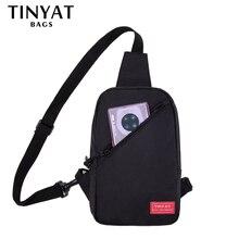 TINYAT New Men% 27 плечо сумка 7.9pad многофункциональный мужской Anti Theft Chest Bag Crossbody Bags Short Trip Messengers Bag +Наушники