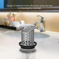 Bath Tub Stainless Steel Drain Protector Bathroom Accessories Hair Stopper Durable Silicone Strainer Bathtub Sink Drain Hair Cat