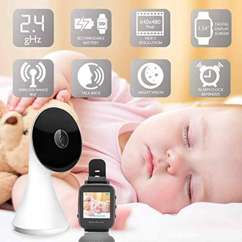 สไตล์ใหม่ Nanny Care ไร้สายจอภาพเสียงเด็ก Intercom Baby Monitor สมาร์ทนาฬิกา