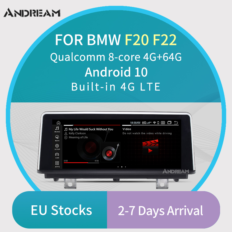 """8.8""""Qualcomm Octa-Core Android 10 4+64G Car Multimedia for BMW Series 1 2 F20 F22 2011-2017 NBT WIFI Bluetooth GPS navigation(China)"""