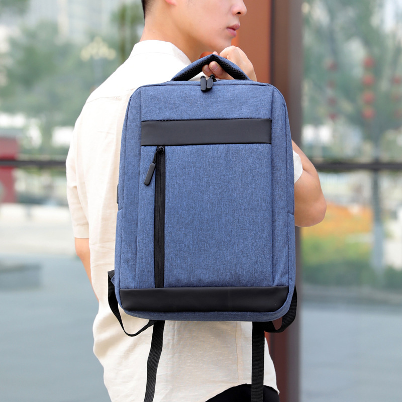 2019 New Style <font><b>Waterproof</b></font> <font><b>USB</b></font> Computer <font><b>Backpack</b></font> Business Casual <font><b>Backpack</b></font> One-piece image