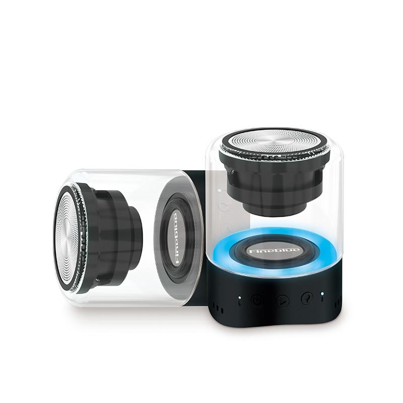 Falante sem Fio Fineblue Bluetooth Mini Speaker Led Waterpoof Luz Mega Bass Música Estéreo Portátil Mk22 Tws