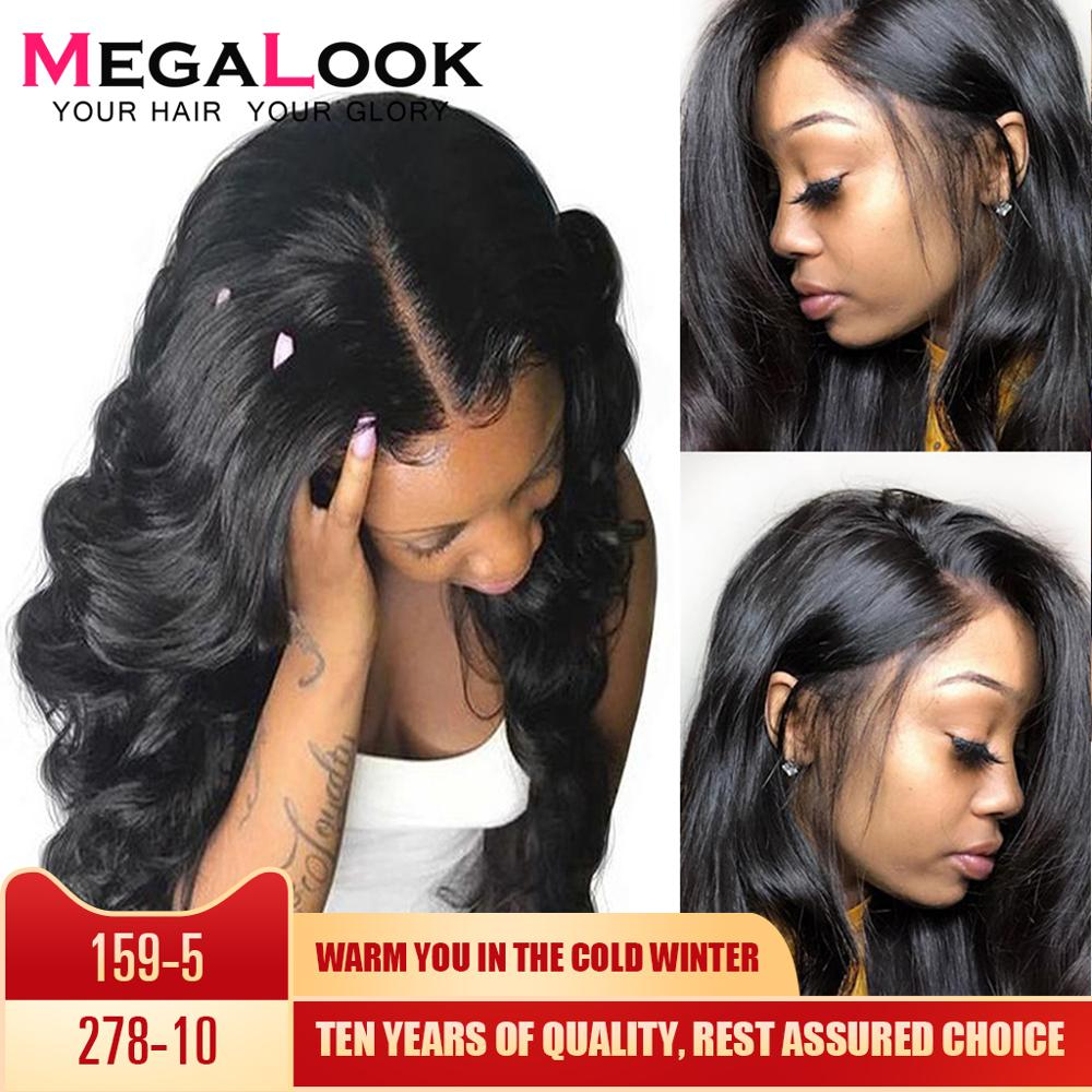 4x4 Closure Wigs Lace Megalook Remy Natural 30inch MegalookBrazilian Human Hair Wigs Body Wave Human Hair Wigs Lace Closure Wig