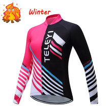 Women Winter Thermal Fleece Cycling Jersey Shirt Road Bike Clothing Bicycle MTB Blouses Clothes Uniform Maillot Mountain BMX MX