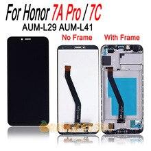 """ل الشرف 7A برو AUM L29/الشرف 7C AUM L41 LCD شاشة تعمل باللمس الإطار الجمعية استبدال ل Honor 7apro/Honor 7C 5.7"""""""