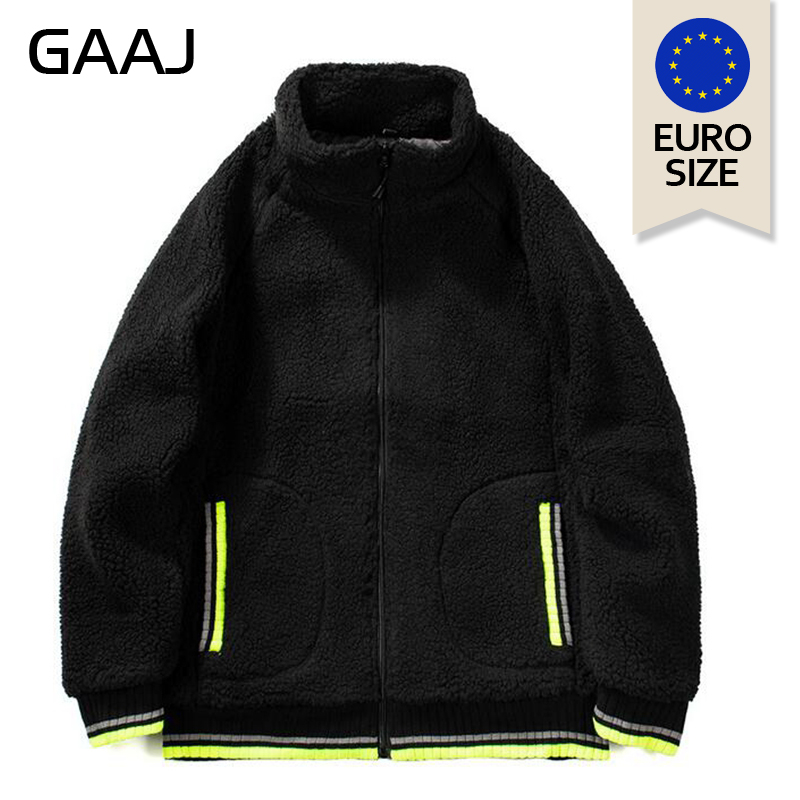 Image 2 - EU US Size Lamb Plush Men Jackets Antumn Winter Hoodie  Jacket  Coat Fashion Designer Outwear Hip Hop Mens Hoodies 2XLJackets   -