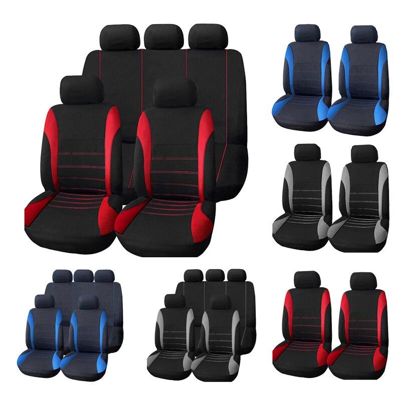 รถอุปกรณ์ตกแต่งภายในถุงลมนิรภัย AUTOYOUTH ฝาครอบที่นั่งสำหรับ Lada Volkswagen สีแดงสีฟ้าสีเทาที่นั่ง Protector