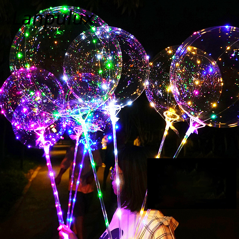 Lanpulux Bubble Balloon Night Lights Romantic Lighting Wedding Party Concert Festival Parade Portable Multicolor Decor Lamp