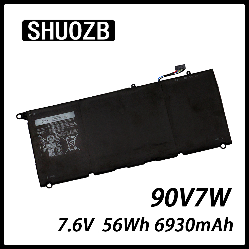 Laptop Battery 90V7W JHXPY 090V7W JD25G For Dell XPS 13 9343 9350 13D-9343 0N7T6 DIN02 P54G 0DRRP RWT1R 7.6V 56Wh 6930mAh SHUOZB