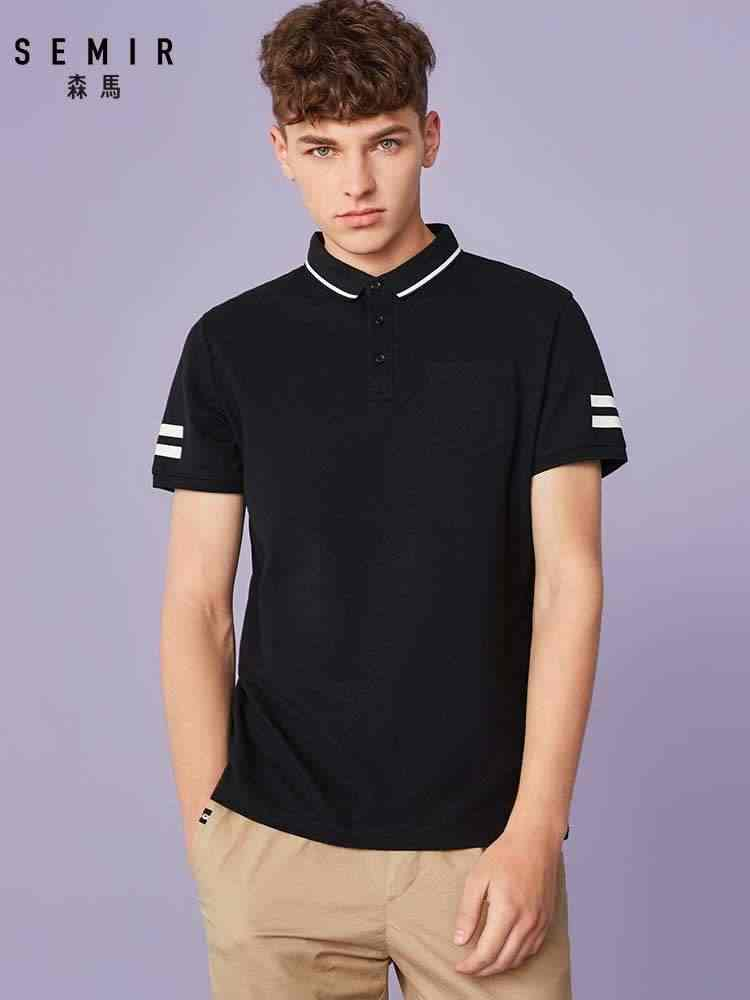SEMIR 짧은 소매 폴로 셔츠 남성 학생 여름 새 남성 폴로 셔츠 학생 반팔 옷 젊은 남자 조수