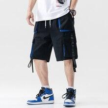 Streetwear Summer Casual Shorts Men Pockets Mens