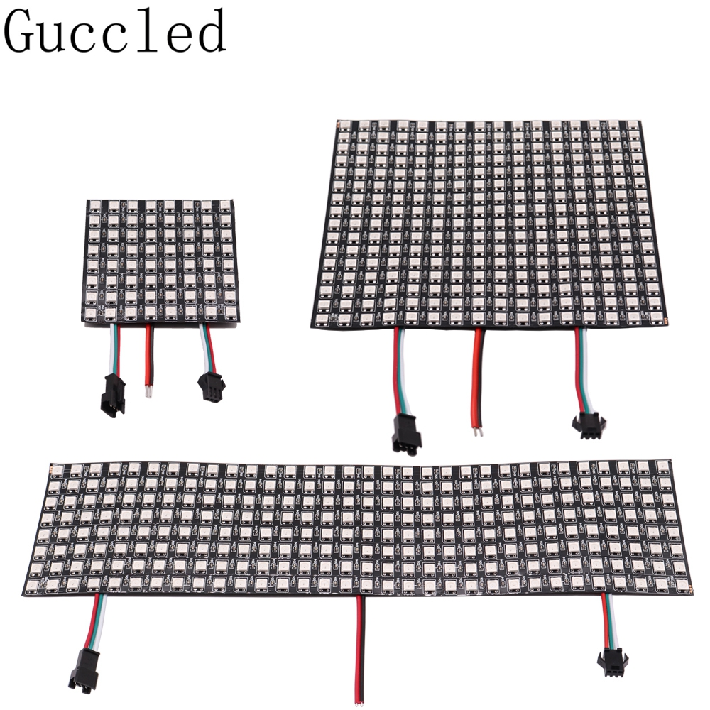 WS2812B RGB LED Digital Flexible Individually Addressable Panel Light WS2812 8x8 16x16 8x32 Module Matrix Screen DC5V