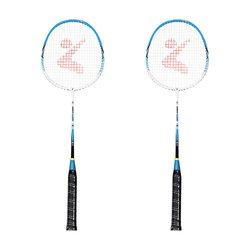 2 لاعب مضرب بدمنتون مجموعة الألومنيوم داخلي الرياضة في الهواء الطلق ممارسة مضرب كرة الريشة مع غطاء حقيبة
