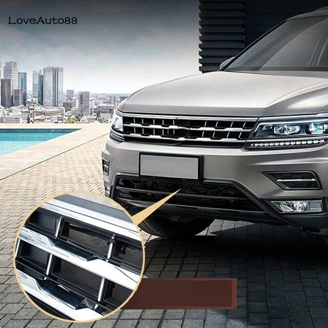 Para volkswagen vw tiguan mk2 2017 2018 2019 2020 carro inseto triagem malha grade dianteira inserção net acessórios