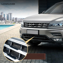 Volkswagen VW Tiguan MK2 2017 2018 2019 2020 araba böcek tarama Mesh ön izgara eklemek Net aksesuarları