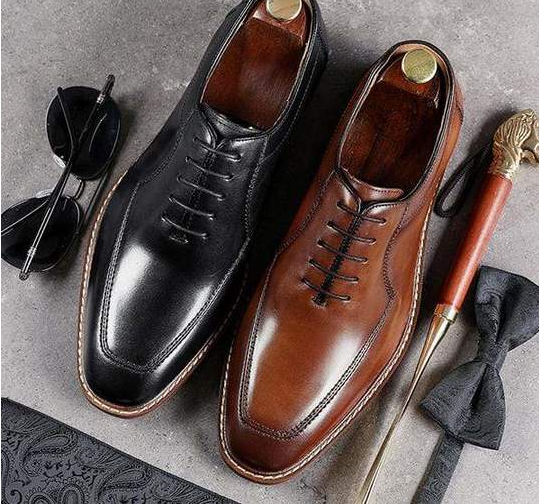 Men Pu Leather Shoes Lace Up Casual Shoes Dress Shoes Brogue Shoes Spring Ankle Boots Vintage Classic Male Casual YK011
