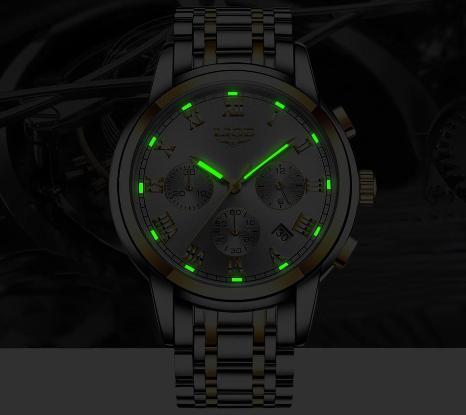 H16ad4a533c9e40dbbcdf723e04e7cf29a LIGE Men Watches Top Luxury Brand Full Steel Waterproof Sport Quartz Watch Men Fashion Date Clock Chronograph Relogio Masculino
