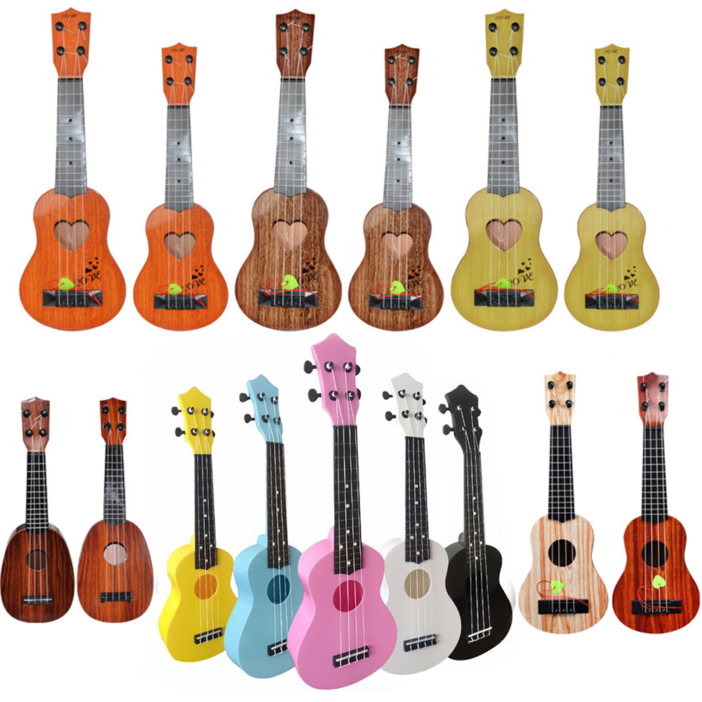Ukulele Pink 21 Inch 4 Strings Ukelele Cheap Hawaii Mini Guitar Tone Candy Color