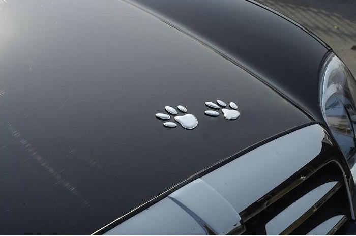 Стильные аксессуары для автомобиля, светоотражающая Водонепроницаемая модная наклейка для автомобиля, Виниловая наклейка, декоративная наклейка с собакой