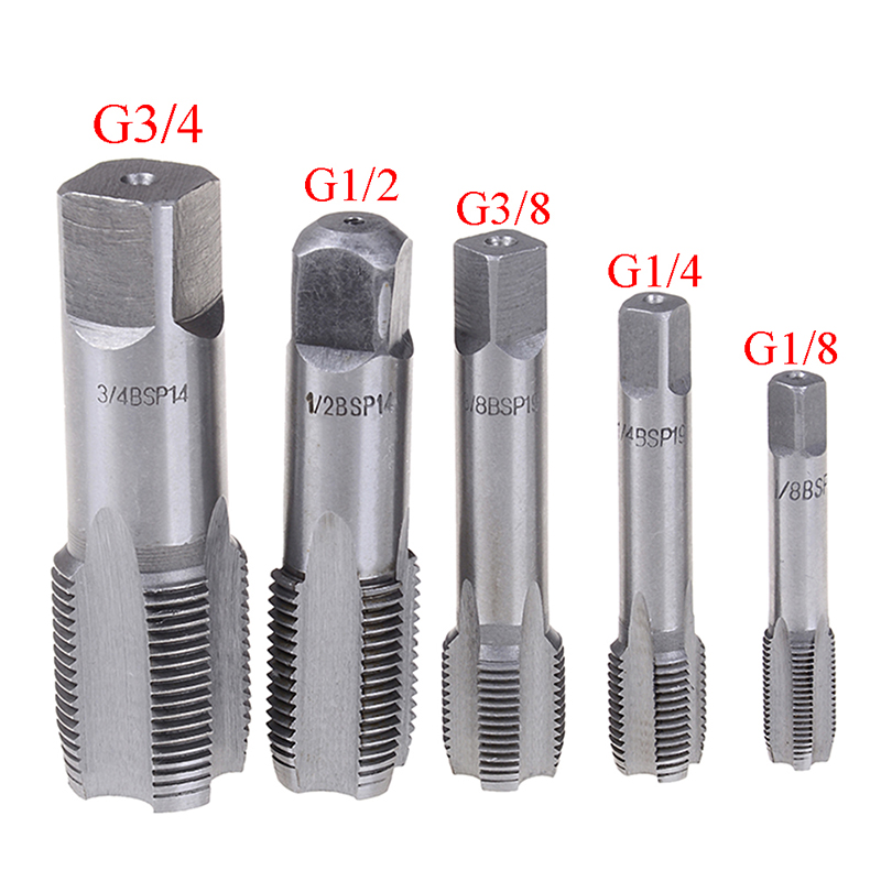G1/8 1/4 3/8 1/2 3/4 HSS Taper Pipe Tap BSP Metal Screw Thread Cutting Tools