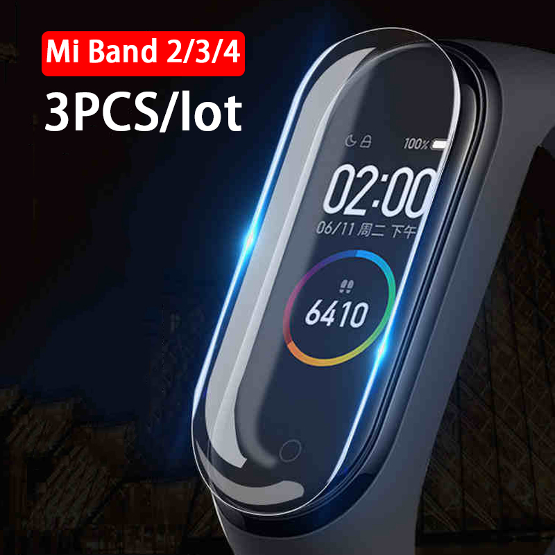 3pcs/lot 3D Full Screen Protector For Xiaomi Mi Band 4 HD Protective Film On The Xiomi Mi Band 2 3 4 Band2 Band3 Band4 Not Glass