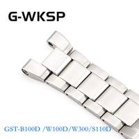 GST-B100D /W100D/W300/S110D Metal 316L Stainless Steel Watchband Watch Accessories