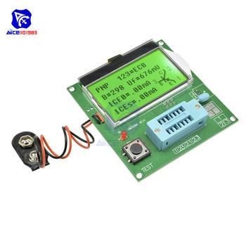 Mega328A LCR-T4 Transistor Tester Diode Triode Capacitance ESR Meter MOS PNP/NPN M328 Capacitor ESR SCR MOSFET Resistor Detector