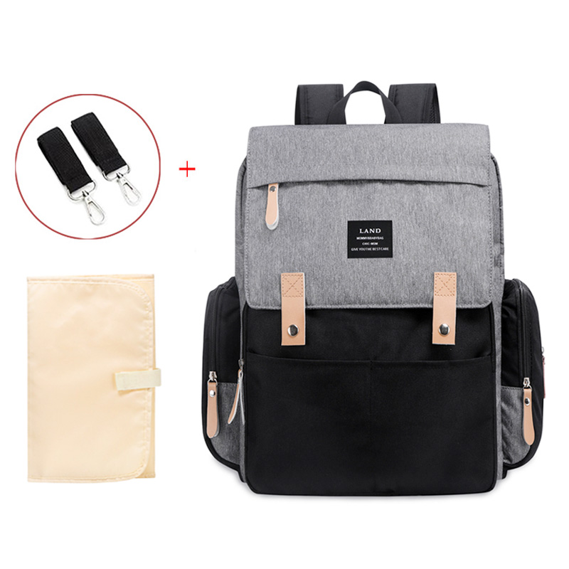 Authentic LAND Mommy Diaper Bags Mother Large Capacity Travel Nappy Backpacks with anti-loss zipper Baby Nursing Bags NEW