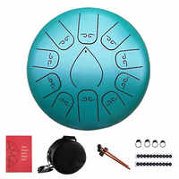 12 Inch 11 Notes Steel Tongue Drum Flower Style With Mallets Music Book Bag Percussion Musical Instrument
