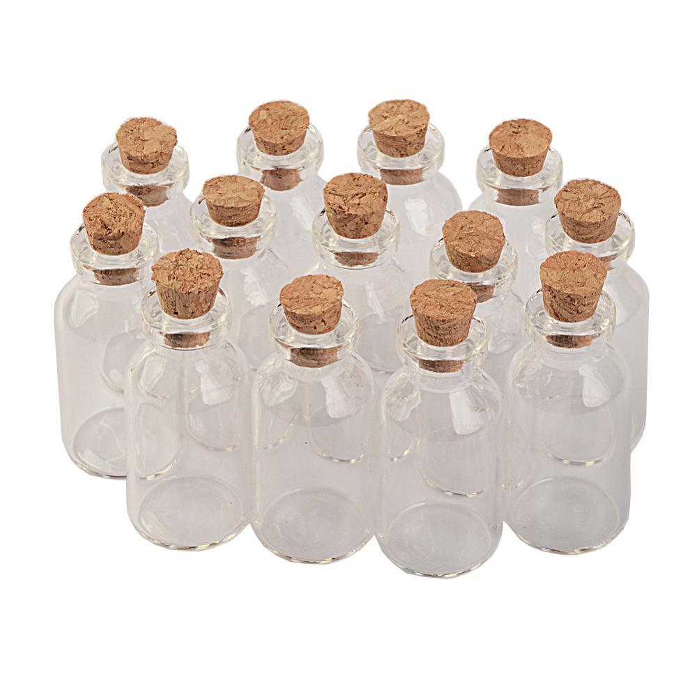 18X40X12.5 mm 5 ml Small Glass Jars With Cork Mini Empty Glass Bottles Wood Lid Glass Vial Wishing Bottles glass bottle
