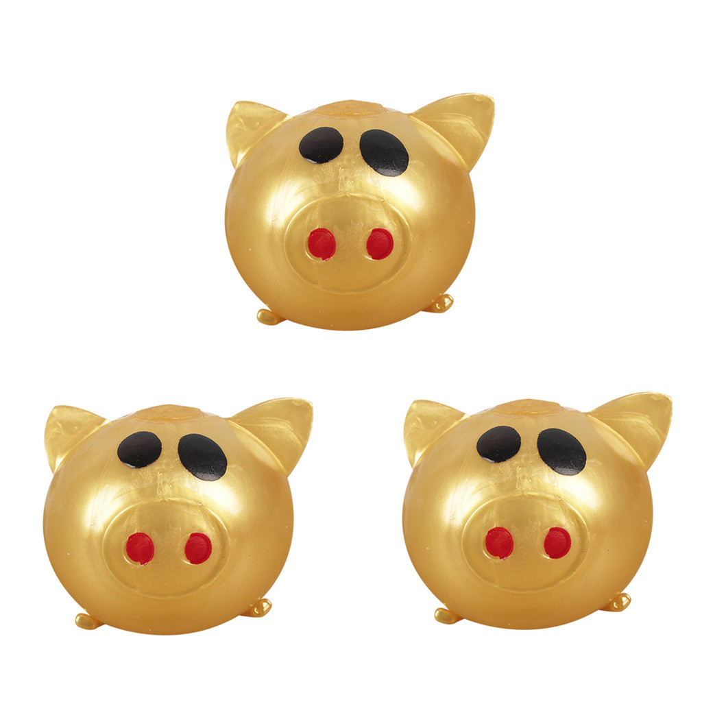3Pc Jello Pig Cute Anti Stress Splat Water Pig Ball Vent Toy Venting Sticky Pig Novelty Funny Toys 2019 New Toys And Hobbies