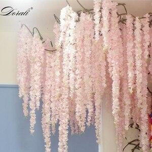 30 см вишневые ветки, искусственные цветы сакуры, вечерние, свадебные, потолочные украшения, настенный подвесной ротанговый цветок, искусств...