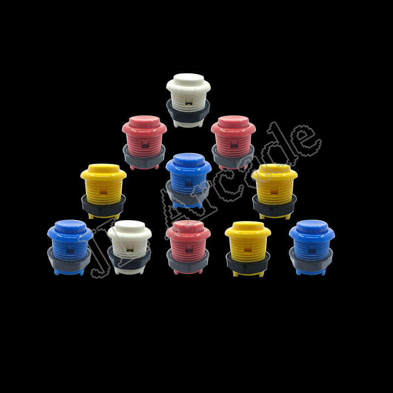 10pcs Latest Sale 28mm Screw Thread American Button Spiral Buttons For Arcade Joystick DIY Kits Parts Mame Jamma Choose 8 Color