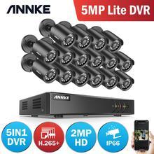 Annke 1080P H.264 + 16CH Cctv Camera Dvr Systeem 16Pcs IP66 Waterdichte 2.0MP Bullet Camera S Home Video Security cctv Kit